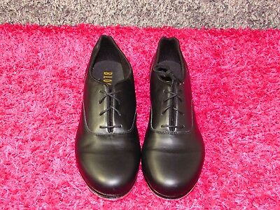 Bloch 10.5M Womens Black Leather Tap Jazz Lace Up Oxford Shoe Shockwave #0
