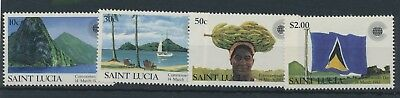 St. Lucia 1983 Commonwealth Day MiNr. 594 - 597 MNH / **