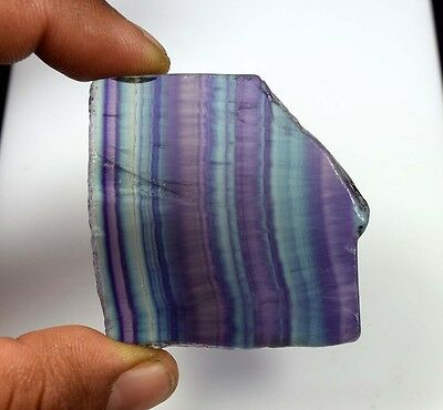 193.40 Cts. 100% Natural Best Grade Fluorite Rough Slice For Cabochons