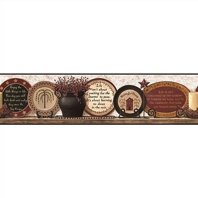 Country Plates of Life -Wallpaper Border by York