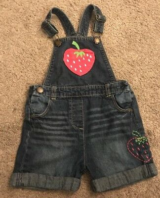 Girls Denim Dungaree Shorts ~ Great with Tights ~ TU ~ 3-4yrs ~ Exc Cond