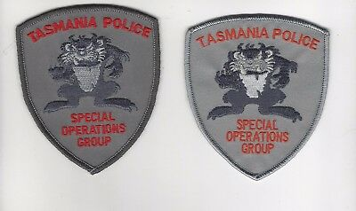Tasmania Police Special Operations Group Set of 2  Patch- Australia