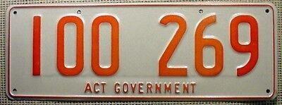 100-series Red on Reflective License Plate