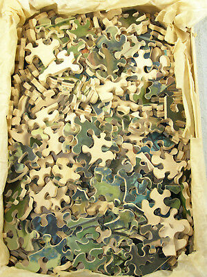 Vintage A.J.K. Straus Wood Jig Saw Puzzle - The Old Home Town - Over 500 pcs