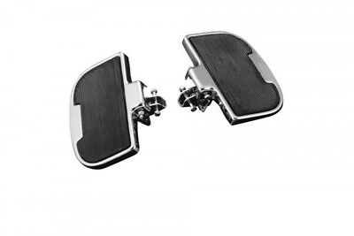 FLOORBOARDSET REAR, chrom/schwarz, HIGHWAY HAWK