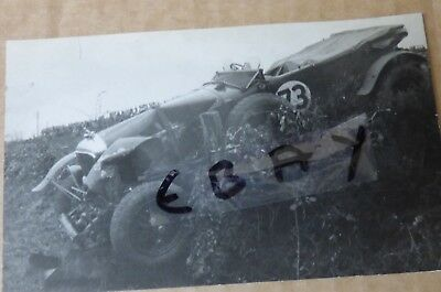 Photo Postcard 1929 Tourist Trophy Race Ards Circuit Belfast Speed Six Bentley