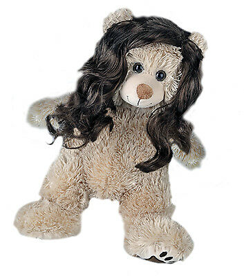 """Long Brown Curly Wig Teddy Bear Wig Fits Most 14"""" - 18"""" Build-a-bear & More"""