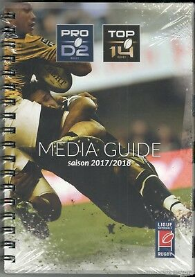 Media Guide Rugby Top 14 Pro D2 2017/2018 : Rct, Asm, Racing, Toulouse, Co, Ubb