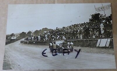 RARE PHOTOGRAPH 1929 TOURIST TROPHY RACE ARDS CIRCUIT BELFAST 4.5 LITREp BENTLEY