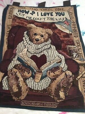 Boyds Bear Hanging Wall Tapestry  And Pillow-Superb For Christmas Teddy Bear