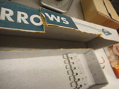vintage Fred Bear Arrows empty box, torn as shown, box & pamphlet only, no arrow
