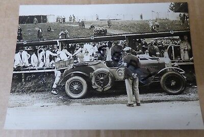 Rare Photograph 1929 Tourist Trophy Race Ards Circuit Belfast 4.5 Litre Bentley