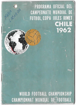 MEGA RARE 1962 World Cup official programme: stunning official edition CHILE