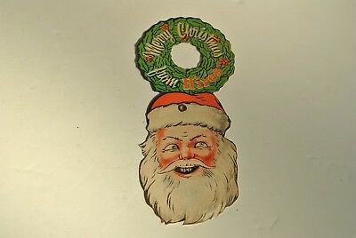 RARE HIRES ROOT BEER MERRY CHRISTMAS Santa Claus Mechanical Advertising