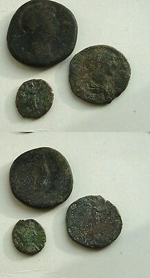 lot of Roman coins.