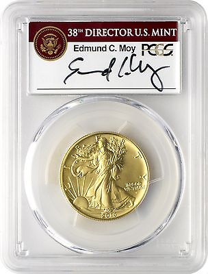 2016-W Gold Walking Liberty Half Dollar Centennial PCGS SP70 FS - Moy Signed