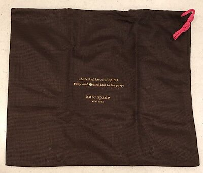 NEW Kate Spade 13 X 11 Purse Storage Dust Bag 👜 Shoe Lingerie Suit Travel S M L