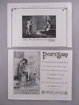 Pear's Soap LOT of 2 PRINT AD - 1896