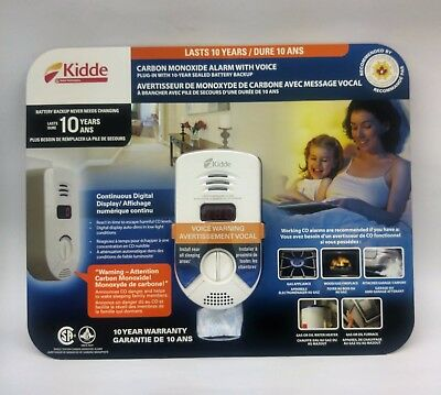 Kidde Carbon Monoxide Alarm with Voice Plug-in 10 year sealed Battery Backup