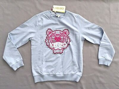 NWT KENZO Kids GIRLS EMBROIDERED PEARL TIGER SWEATSHIRT SWEATER 12 13 14A 164