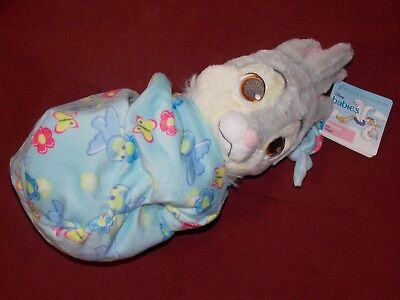 "Disney Parks Baby THUMPER in a Blanket Pouch Plush New with Tags 10"" Bambi"