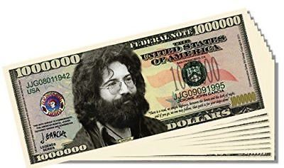 Jerry Garcia (Grateful Dead) Novelty Million Dollar Bill - Set of 100 with 1 Bon