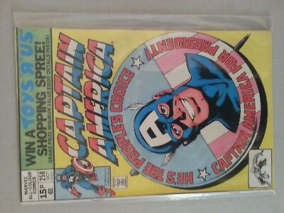 Captain America #250 (1980) Nick Fury Spider-Man VF+ Combined P&P Available