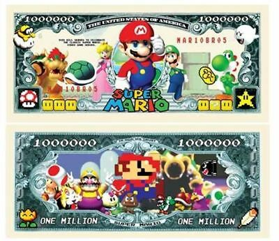 Set of 50 - Super Mario Brothers Million Dollar Bill by American Art Classics