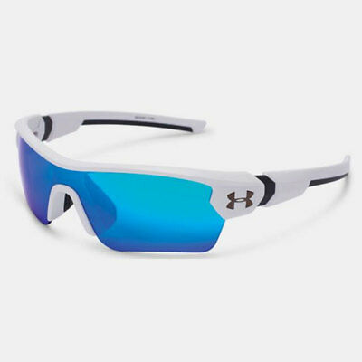 Under Armour *youth* Menace Sunglasses Satin White Frame / Blue Multi Lens 18275