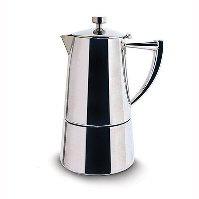 Cuisinox Stainless Steel Mirror Polish 6 Cup Stovetop Espresso Coffee Maker