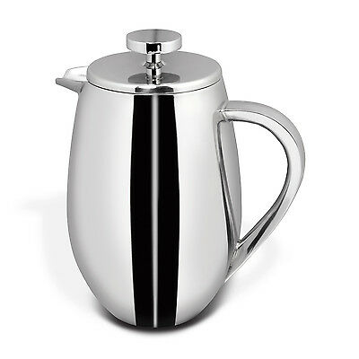 Cuisinox Stainless Steel 1 Qt. Double Walled 5 Cup French Press Coffee Maker