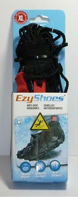 Pair Of XL EzyShoes Anti-Skid Overshoes Winter Snow Ice Grips (10-13)