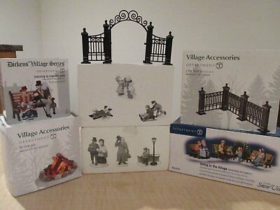 LOT of Department 56 Dickens Village Accessories - Over $200 Value