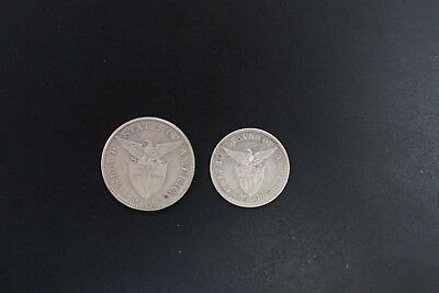 Philippines lot of 2 silver coins VF+ condition with .3969oz ASW (v036)