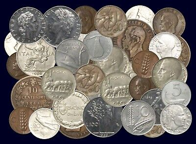 12 Different French, Italian Coins, Spanning 20th Century!