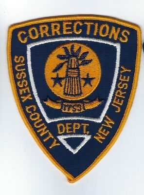 older Sussex County NJ New Jersey CORRECTIONS Dept. patch - NEW! *CLOTH BACK*