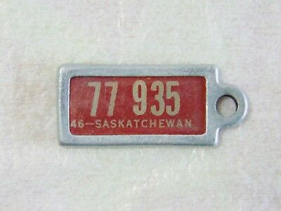 Vintage The War Amps Of Canada Collectable 1946 Saskatchewan Mini Licence Plate.
