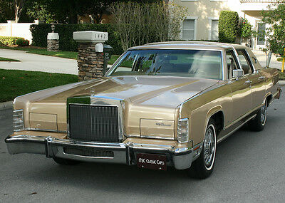 1979 Lincoln Town Car Original ELEGANT LOW MILE SURVIVOR  1979 Lincoln Towncar -  58K ORIG MI