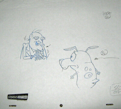 Original Production Drawing- Courage the Cowardly Dog (Cartoon Network)