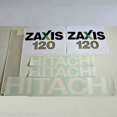 Hitachi ZX120 Decals Stickers  New Repro Decal Kit