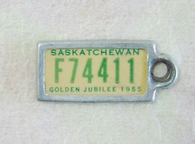 Vint War Amps Of Canada Collectable 1955 Sask Golden Jubilee Mini Licence Plate.