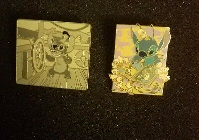 Disney stitch steamboat willie & ugly duckling pins
