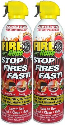 Fire Gone 2NBFG2704 White/Red Fire Suppressant Canisters - 16 Ounce (Pack of ...