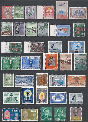 CEYLON: 6 scans most of the stamps are in MNH.