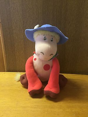 "Ermintrude Cow Plush from The Magic Roundabout Talking Toy 10"" 2004"