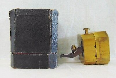 Antique German F.A.Koch & Co. Brass Blood Letting 8 Bladed Scarificator With Box