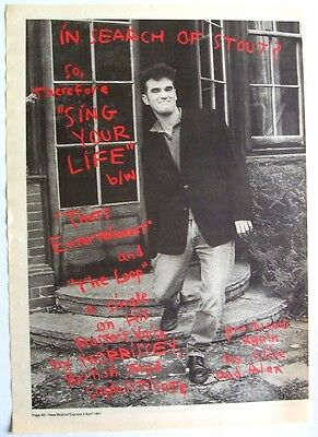 MORRISSEY 1991 Poster Ad SING YOUR LIFE kill uncle