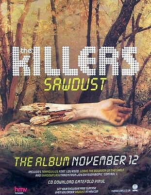 THE KILLERS 2007 poster type Advert SAWDUST