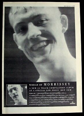 the smiths MORRISSEY 1995 Poster Ad WORLD OF MORRISSEY