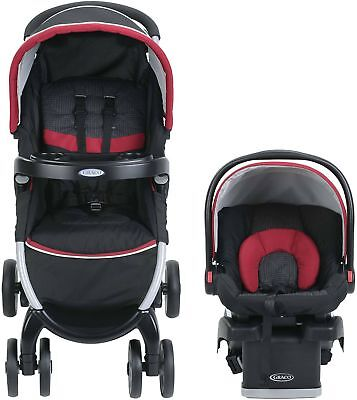 Graco FastAction Fold Click Connect Travel System, Car Seat Stroller Combo,